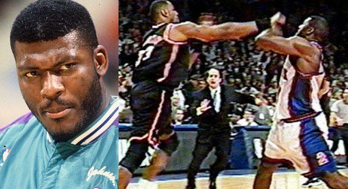 Larry Johnson Charlotte Hornets New York Knicks