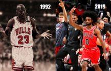 NBA: Coby White = Afro Jordan z Chicago, Trae Young znów szaleje!